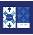 Blue marble tiles vertical round frame pattern vector