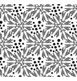 Seamless pattern of dandelion vector