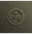 Army 3d abstract sign vector