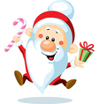 Santa claus is looking forward to christmas - vector