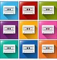 A cassette radio icon vector