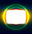 Shiny screen on the crossed wires vector