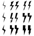 Signs of lightning vector