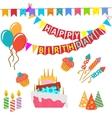 Retro birthday celebration design elements - for vector