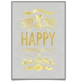 Vintage gold lettering wishes design vector