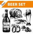 Sketch oktoberfest set of beer vector