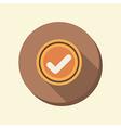 Flat circle web icon the add symbol vector