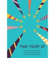 Happy hanukkah greeting card design jewish holiday vector