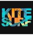 Surfer typography t-shirt graphics vector