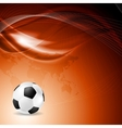 Soccer bright background with abstract waves vector
