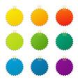 Color labels set vector