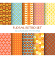 10 seamless patterns - floral retro set vector