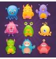 Cute monsters set vector