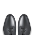 Background of male fashion classic black shoes vector