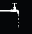 Fountain with faucet black vector