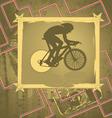 Cyclist vintage frame vector