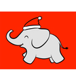 Merry baby santa elephant vector