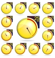 Stopwatch - yellow timers set vector