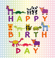 Happy birthday card on pastel color background vector