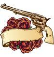 Guns and roses banner vector