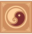 Oriental pattern - yin yang pattern vector