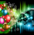 Christmas club party background vector