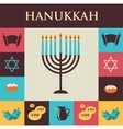 Famous symbols for the jewish holiday hanukkah vector