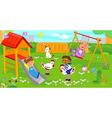 Children at the playground vector