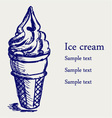 Soft serve ice vector