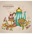 Vintage menu or invitation card vector