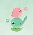 Couples bird mini vector