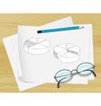 Planning pie chart paper vector