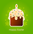 Easter cake with candle vector