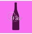 Wine bottle silhouette vector