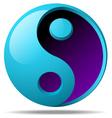 3d ying yang sign vector