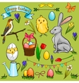 Cartoon easter collection vector