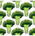 Happy healthy broccoli seamless pattern vector