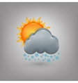 Icon weather cloud sun snow vector