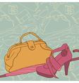 Shopping background vector