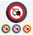 Do not talk chat sign icon speech bubbles vector