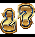 Golden question mark symbol vector
