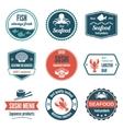 Seafood label set vector
