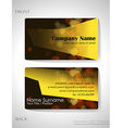 A front and back business card vector