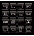 Line hi-tech equipment icons vector