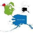 Alaska map vector
