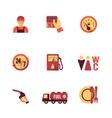 Fuel pump icons set vector
