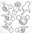 Hands sketching vector