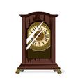 Brown retro clocks and glass vector