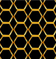 Golden honey cell background vector