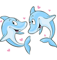 Dolphin in love vector